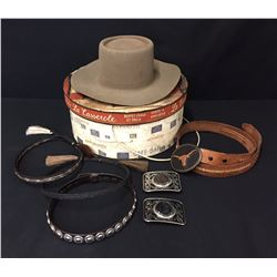 Misc. Western Buckles, Hatbands, Hat