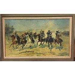 Frederic Remington Canvas Transfer Print