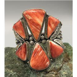Six Stone Spiny Oyster Bracelet