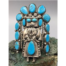 Large Kachina Figure Bracelet
