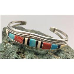 Multi Stone Inlay Bracelet