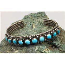 Vintage Turquoise and Sterling Bracelet