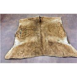 Antique Elk Hide Blanket