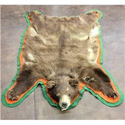 Old Brown Bear Hide Rug