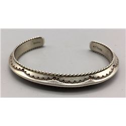 Hand Stamped Triangle Sterling Bracelet