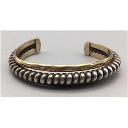 Sterling Silver and Gold Overlay Bracelet