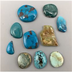 500 Cts. Misc. Turquoise Cabochons