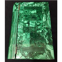 Unique! Malachite Inlay Book-Display
