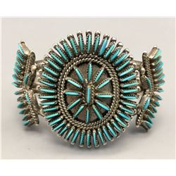 Zuni Needlepoint Cluster Bracelet - Signed