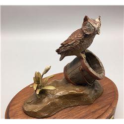 Screech Owl Bronze - Harvey Rattey