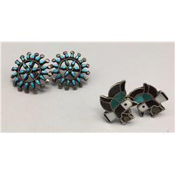 Pair of Vintage Zuni -Style Earrings