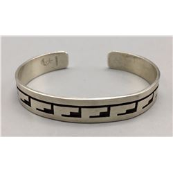 Sterling Silver Overlay Cuff Bracelet
