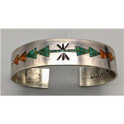 Vintage Navajo Inlay Style Bracelet