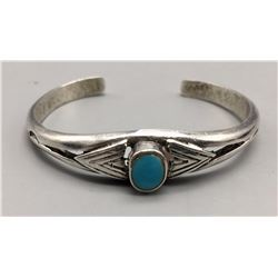 Turquoise and Serling Silver Cuff Bracelet