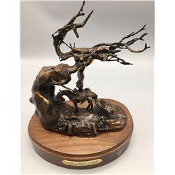 Last Visit, Bronze by Harvey Rattey