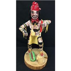 Large Navajo Folk Art Clown Kachina