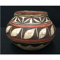 Old Zuni Pottery Vessel Circa 1920s - 40s