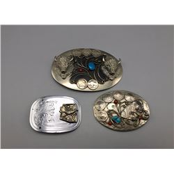 Group of 3 Vintage SW Style Buckles