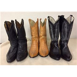 Group of 3 Pair Vintage Cowboy Boots
