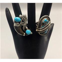 Pair of Vintage Navajo Rings