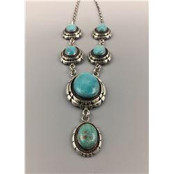 Nice Turquoise Cabochon Necklace - Etsitty