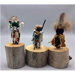 3 Navajo Folk Art Wood Cavings