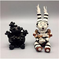 Pair of Unique Storyteller Pots