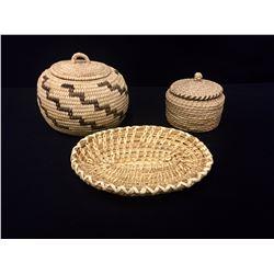 3 Vintage Tohono O'odham Baskets
