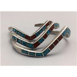 Group of 3 Vintage Inlay Bracelets