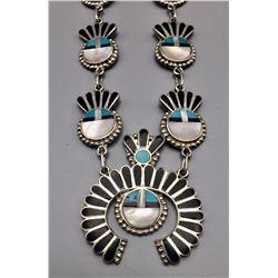 Vintage Zuni Inlay Necklace