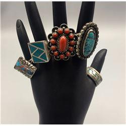 Group of 5 Vintage Rings