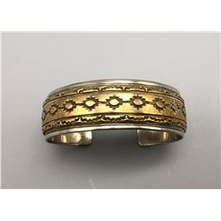 Sterling Silver with Gold Overlay Bracelet