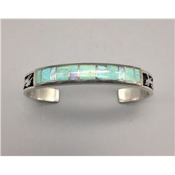 Turquoise and Opal Inlay Bracelet