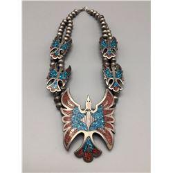 Vintage Waterbird Inlay Necklace