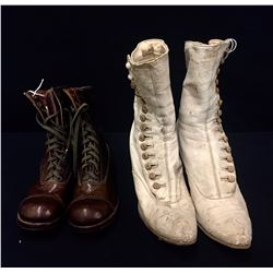 2 Pair of Antique Leather Boots