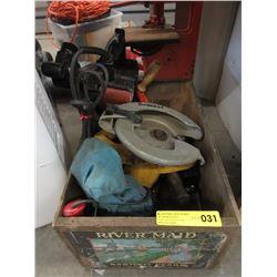 Vintage Pear Box with DeWalt Circular Saw & More