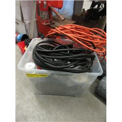 Bin of Hardware & Extension Cord