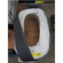 """Large Roll of 4"""" Rubber Baseboard"""