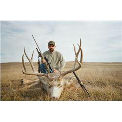 4 Day Mule Deer Hunt in ground blinds for 1 hunter in Nebraska. Rifle or handgun. November 2018