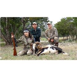 2 Day, 2 Night Hog & Varmint Youth Hunt for 4-6 kids (age 6-16) and 2-3 adults in Texas with lodging