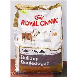 ROYAL CANIN ADULT BULLDOG DOG FOOD  30LBS APPROX.