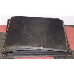 STACK OF RUBBER MATS