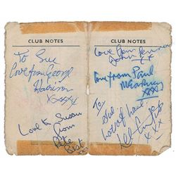 Beatles with Pete Best 1962 Cavern Club Signatures