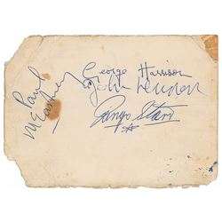Beatles Signed 1962 Star Club Promo Card