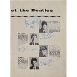 Beatles Signed 1963 Concert Program