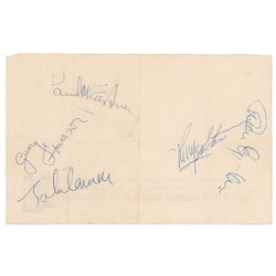 Beatles and Brian Epstein Signed 1965 Signatures