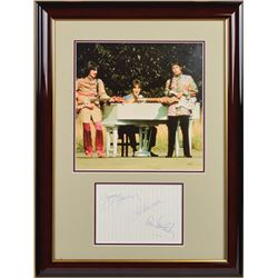Beatles 1968 Signatures Display