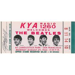 Beatles Pair of 1966 Candlestick Park Tickets