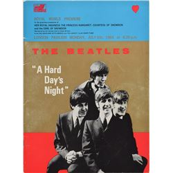 Beatles 1964 A Hard Day's Night Premiere Program