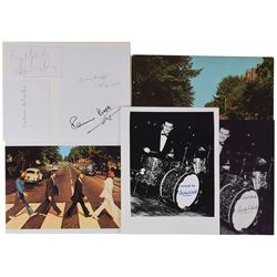 Beatles Friends and Drummers Set of (8) Signed Items